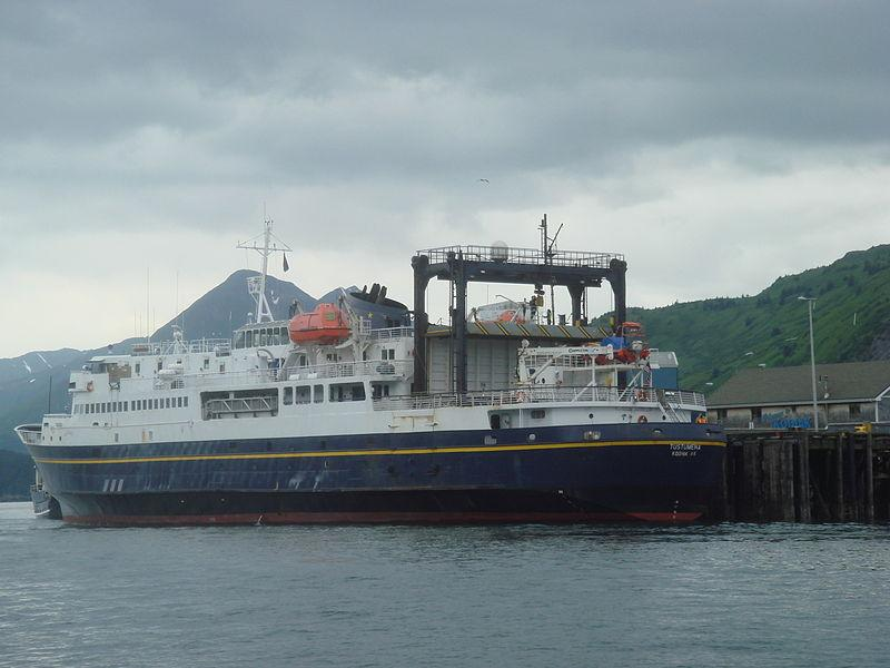 The MV Tustumena was scheduled to leave Dutch Harbor for Homer on May 21. Now that trip will happen at least two weeks later, says the AK DOT. ( Photo couretsy of Nancy Heise)