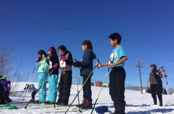 Children participating in the Nana Nordick Ski program. (Photo by Emily Schwing, KNOM - Nome)