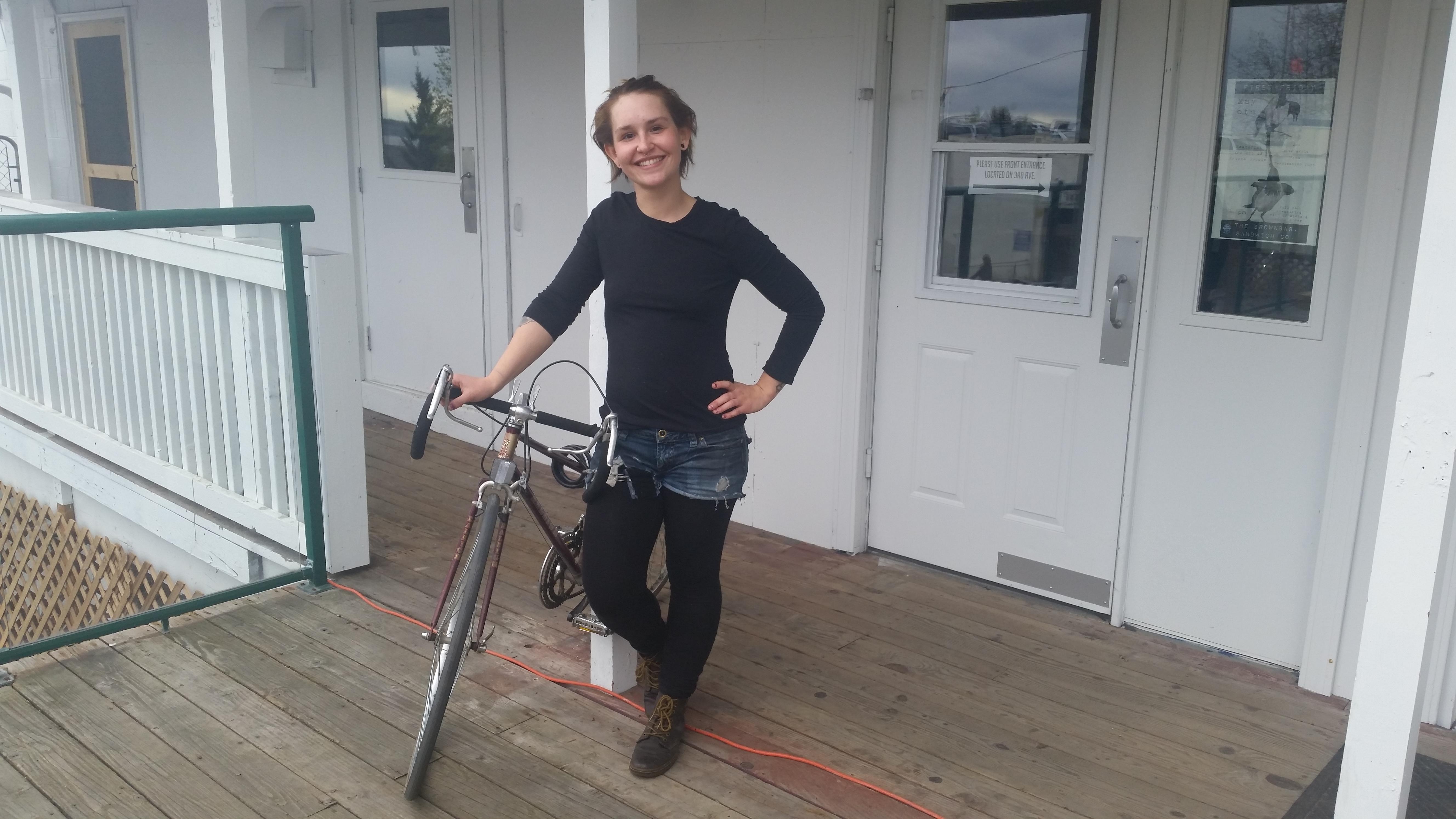 Jenna Holcomb of Anchorage (Photo by Zoe Sobel, KUCB - Unalaska)