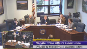 The Senate State Affairs Committee passed HB126, where it continues onto the House Judiciary Committee. (Screenshot from the Alaska Legislature video stream)