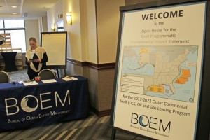 The Bureau of Ocean Energy Management held ten meetings across the state to take public input on the draft environmental impact statement for the 2017-2022 outer continental shelf drilling plan. Photo: Rachel Waldholz/APRN
