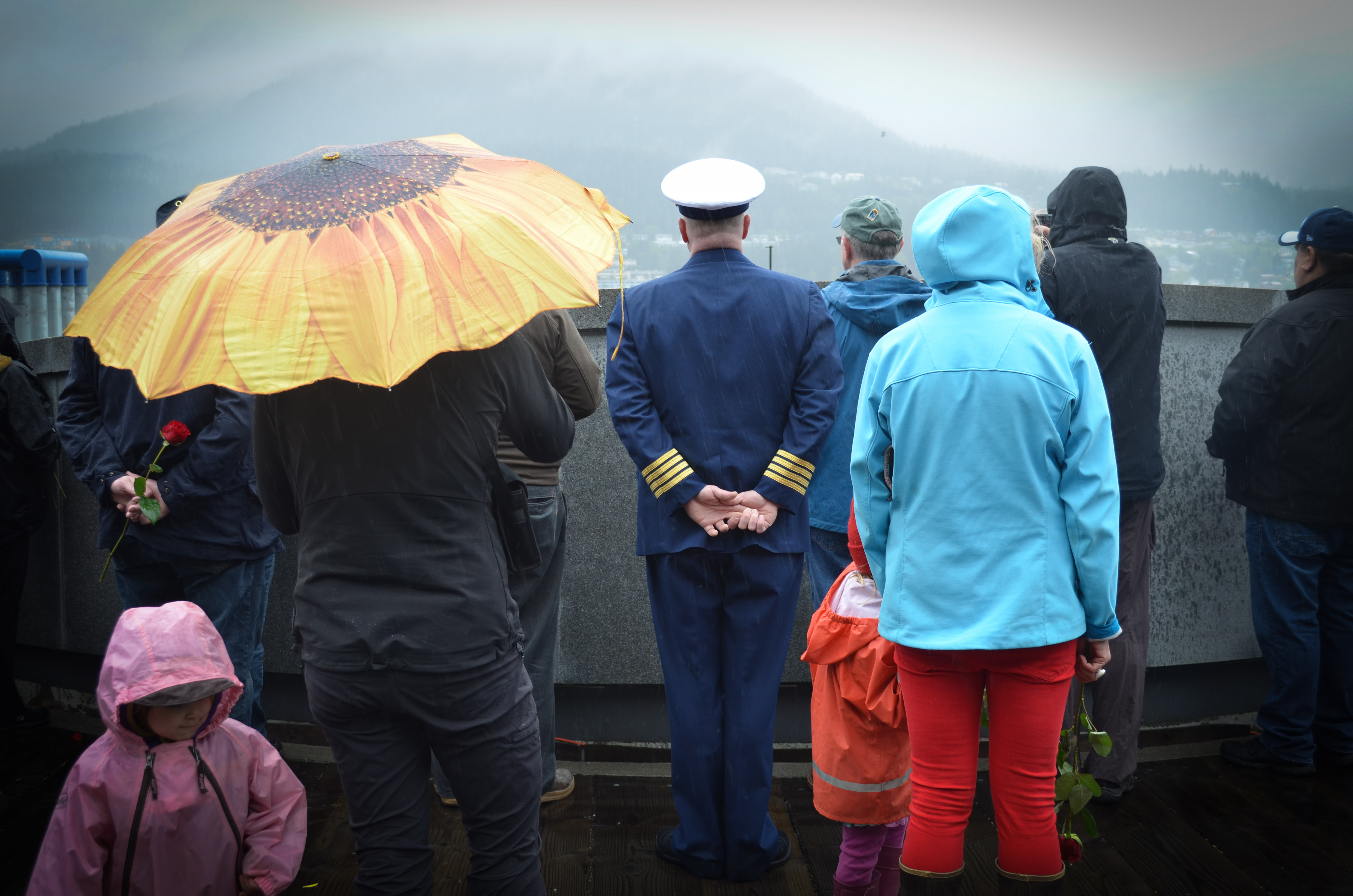More than a hundred people gathered May 7, 2016 for the Blessing of the Fleet in Juneau. (Photo by Jennifer Canfield, KTOO - Juneau)