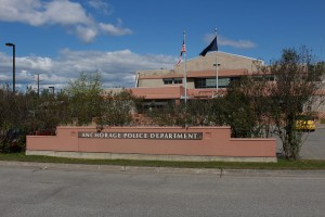 The Anchorage Police Department Building (Photo by Wesley Early, Alaska Public Media - Anchorage)
