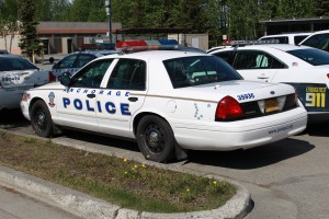 APD police cruiser (Photo by Wesley Early, Alaska Public Media - Anchorage)