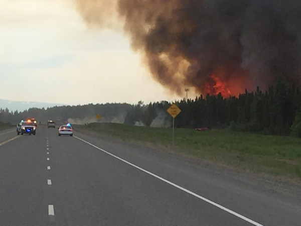The Sockeye Fire which devastated Willow in 2015 (Photo courtesy of the Mat-Su Borough)