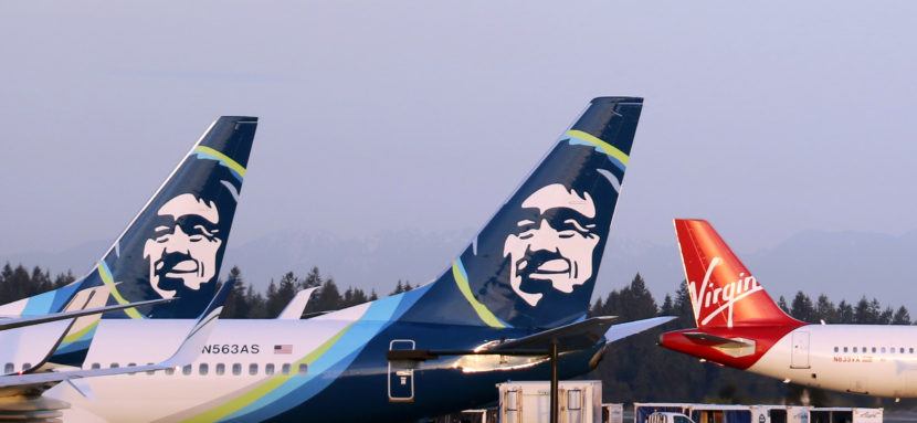 (Photo courtesy of Alaska Airlines and Virgin Airlines)