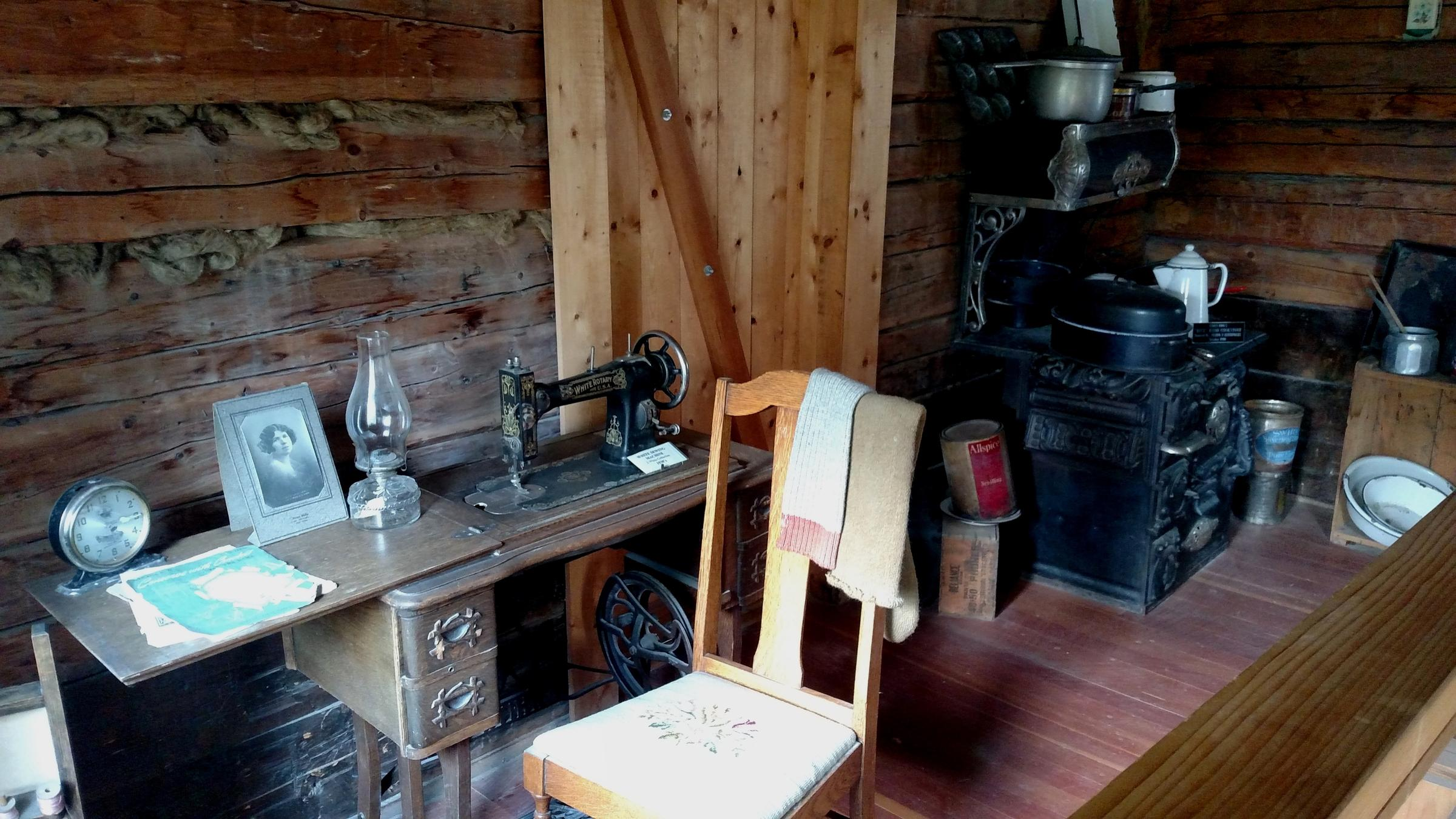 Both of the WAMCATS cabins have been restored and contain carefully curated, historically accurate pieces to accurately depict the working conditions of the signal soldiers assigned to operate the telegraph system. (Photo by Tim Ellis, KUAC - Fairbanks)