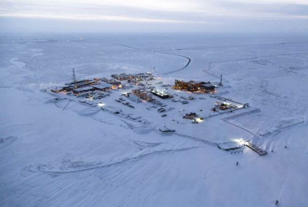 Construction on Exxon Mobil's Point Thomson field in December 2015. Image courtesy of Exxon Mobil/MSI Communications