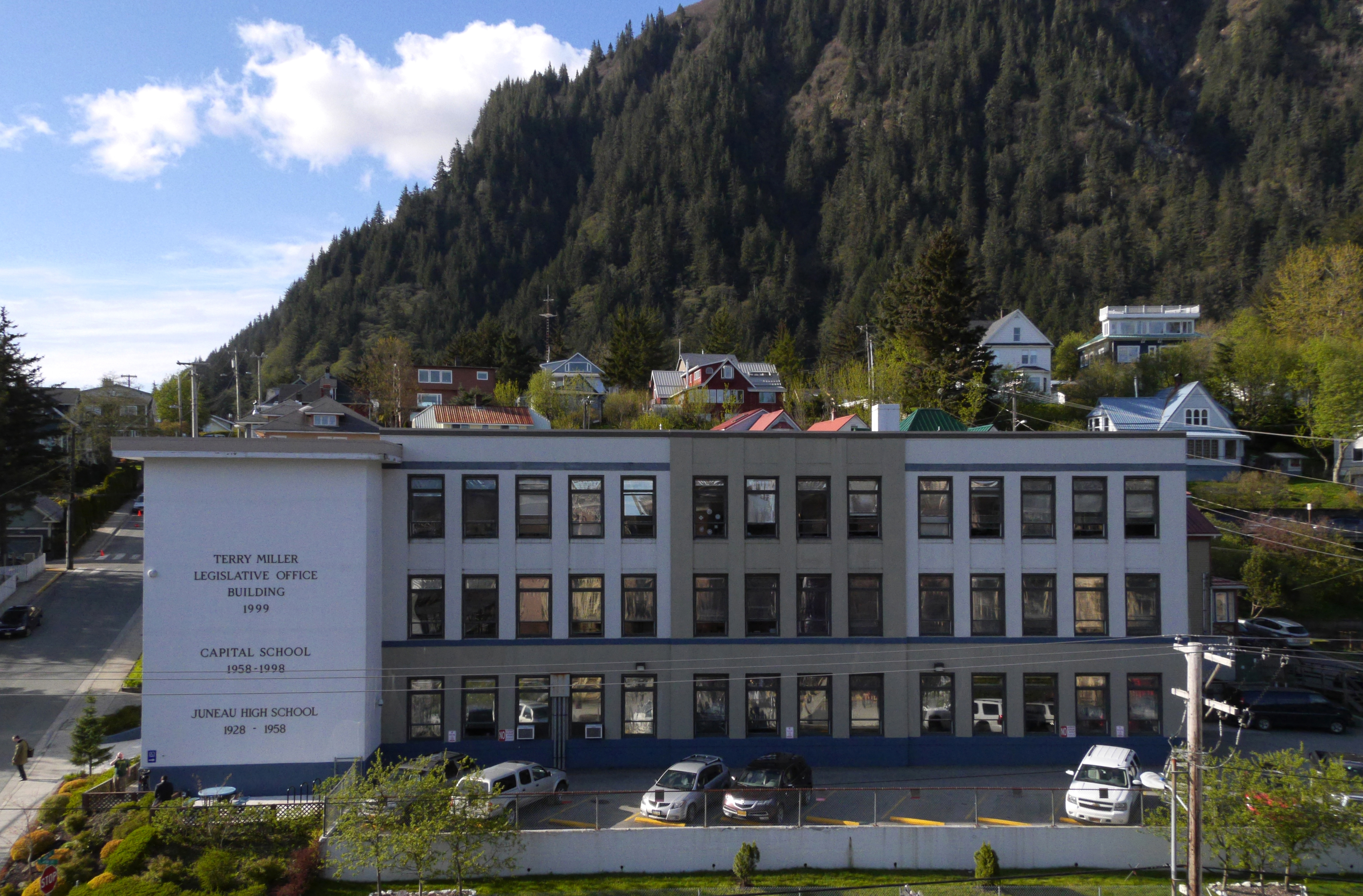 The Terry Miller Legislative Office Building, April 20, 2016; the temporary location for the Alaska House and Senate for the 2016 extended legislative session.