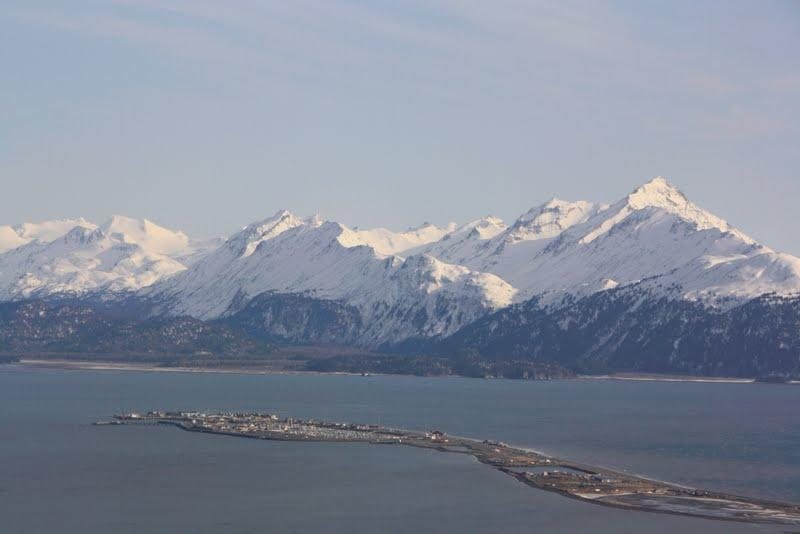 The Homer Spit on Kachemak Bay. (Photo from the KBBI database)