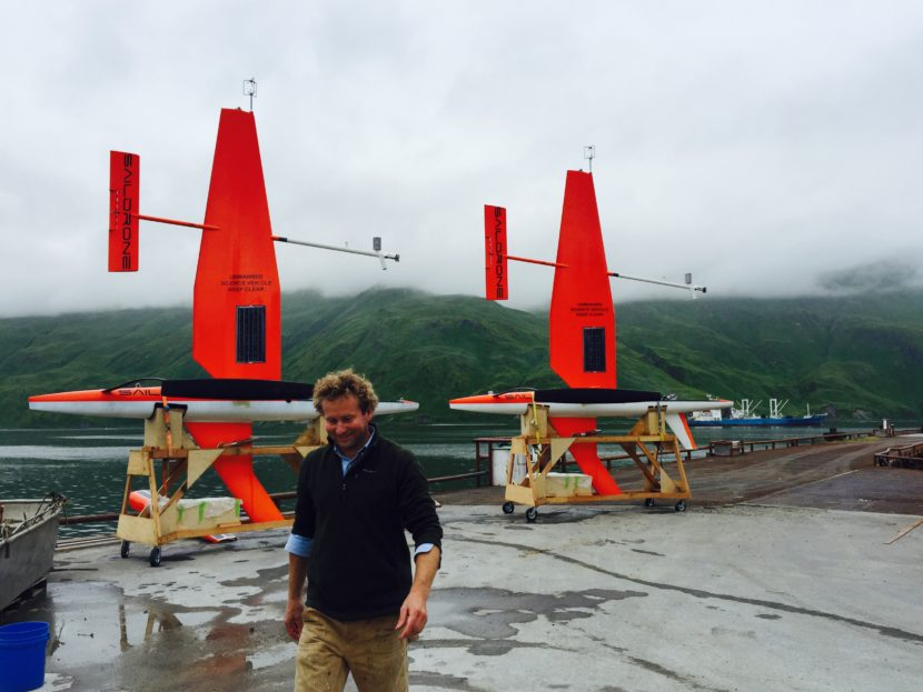 Saildrones Inc. CEO Richard Jenkins turns in Unalaska. (Photo by John Ryan, KUCB - Unlaska)