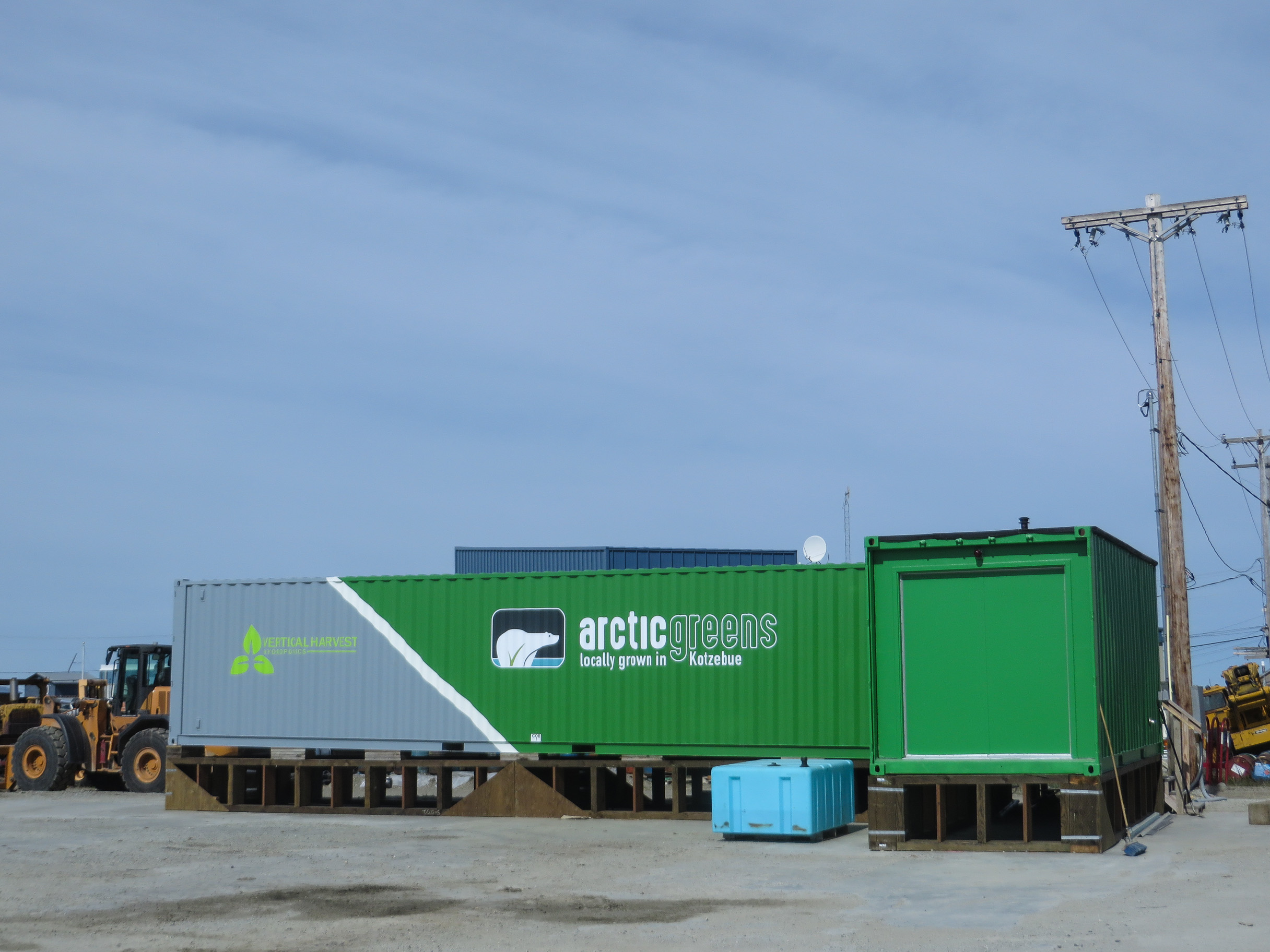 If the pilot phase goes well, Arctic Greens plans to purchase three more hydroponic connexes for the Kotzebue operation. (Photo by Laura Kraegel, KNOM - Nome)