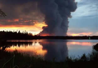 Miller's reach fire which occurred June 15, 1996 (File photo courtesy of Alaska Center for Resource Families)