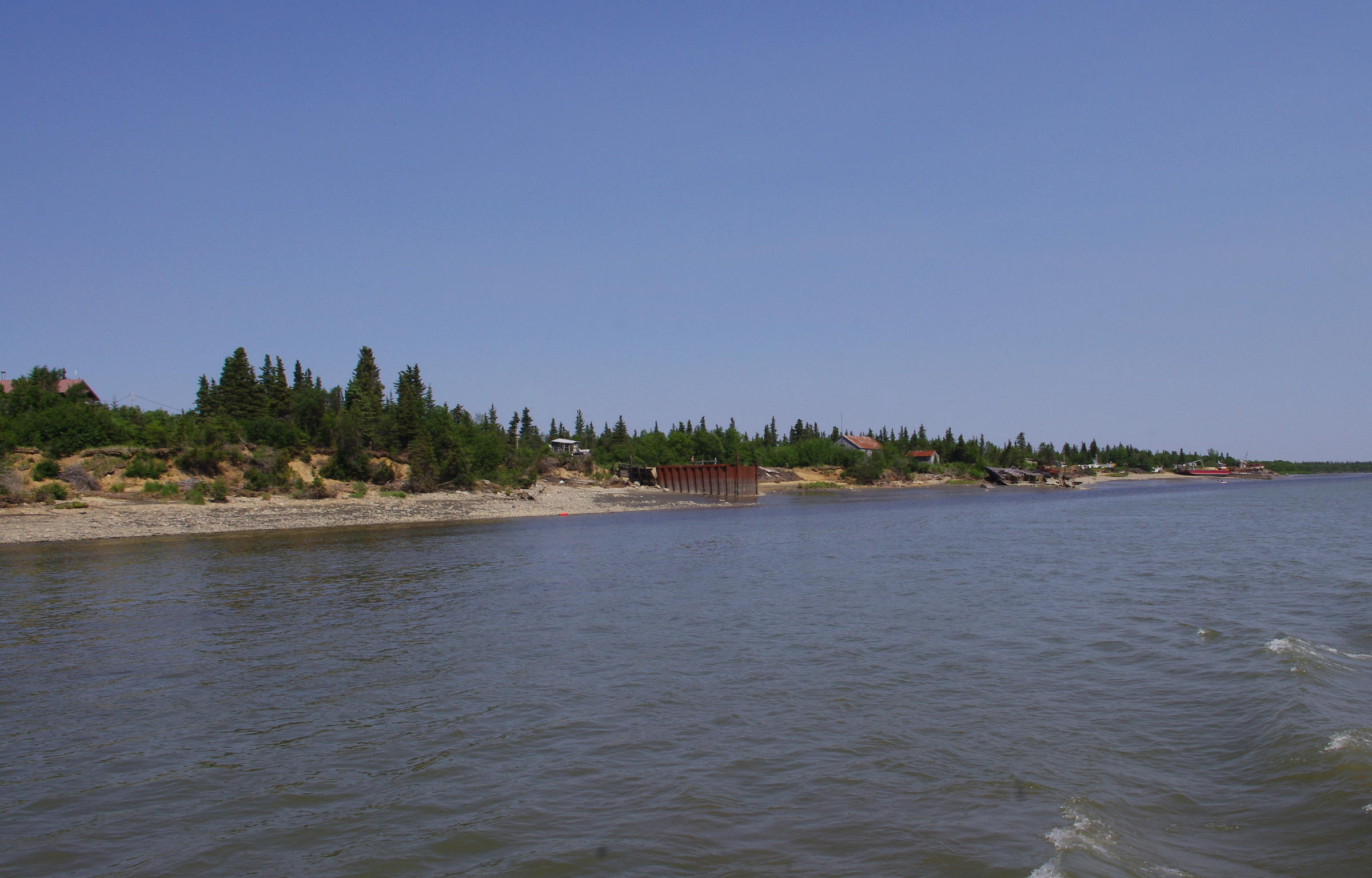 Levelock is shown in this June 2015 photo. The community on the Kvichak River is working to build a fish processing plant, which it hopes will open next year. (Photo by Molly Dischner, KDLG - Dillingham)