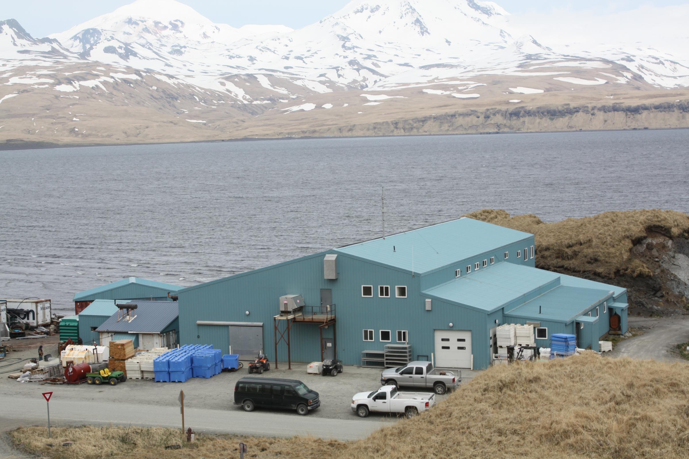 Atka Pride Seafoods in 2013. (Photo by Lauren Rosenthal, KUCB - Unalaska)