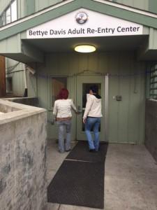 Jennifer Blankenship-Douglas and Leanora Barton at the Bettye Davis Adult Re-entry Center in Anchorage. (Brielle Schaeffe, KCAW - Sitka)