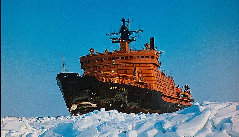 Russian Arktika-class icebreaker (Wikimedia commons photo by Nikolai Zaytsev)
