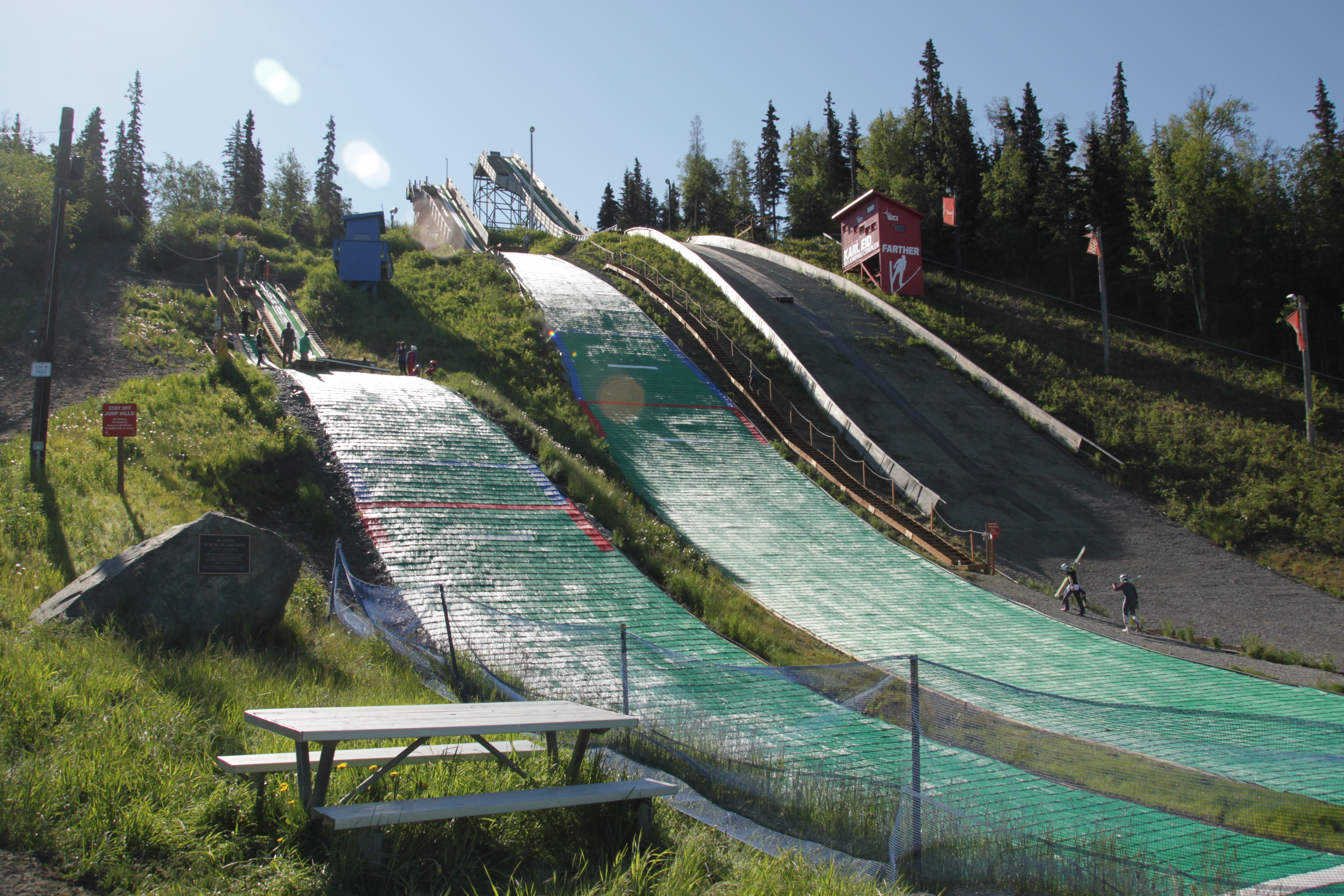 The Hilltop summer ski jump. (Photo by Ammon Swenson, Alaska Public Media - Anchorage)