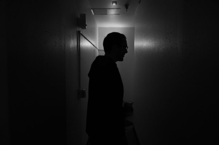 Matt Magnusson gives a tour of the Catholic Community Service's Family Resource Center in Juneau, June 17, 2016. He says everyone jokes that this hallway is haunted. (Photo by Jeremy Hsieh, KTOO - Juneau)