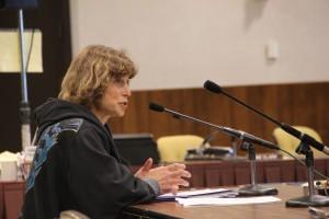 Behnken testifies before the Alaska State Board of Fisheries in 2015. (Photo by Rachel Waldholz, KCAW - Sitka)