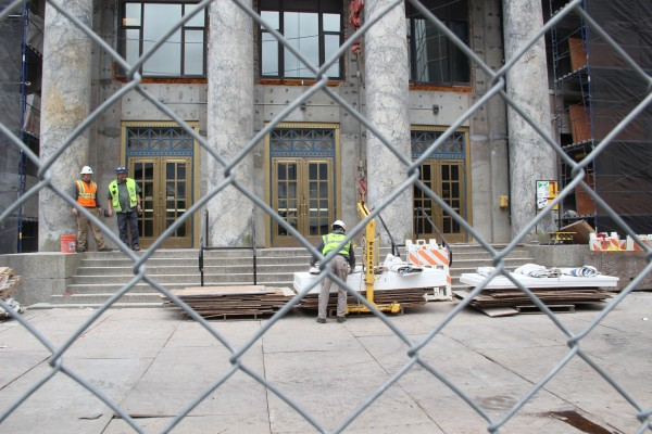 Construction on the Capitol building in Juneau on May 24, 2016. Photo: Rachel Waldholz/APRN
