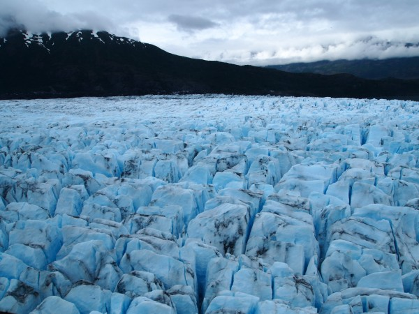 The shifting glacier conditions obscured wreckage for decades, but also preserved debris materials, which were spotted in 2012. Photo: Zachariah Hughes, Alaska Public Media.