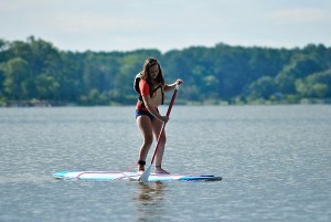 Paddleboarding on a lake. Photo: WikiCommons