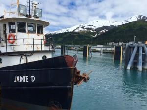 The Jamie D, a tender boat owned by Whittier resident Robert Johnson. (Photo by Graelyn Brashear, KSKA - Anchorage)