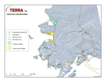 GCI TERRA Network 2016-2017 Construction Map. (Image courtesy of GCI)