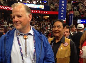 Tuckerman Babcock, left, and Jerry Ward at the 2016 GOP National Convention. Photo by Lawrence Ostrovsky)
