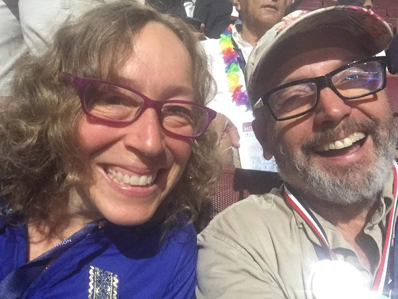 A selfie taken by Homer resident Taz Tally with with the other Alaska delegate from Homer, Diana iana Carbonell at the National Democratic Convention in Philadelphia. (Photo Courtesy of Taz Tally)