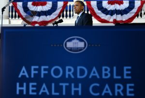 President Obama speaks about the Affordable Care Act.