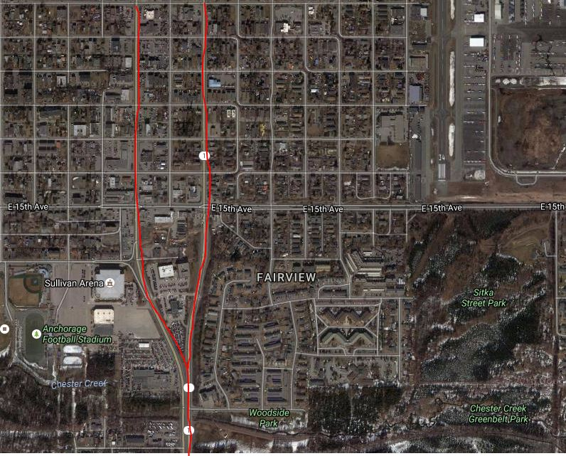 Anchorage moves forward on downtown road plan - Alaska ... on driving the alcan highway, 1 4 mile highway, peace river canada alcan highway,