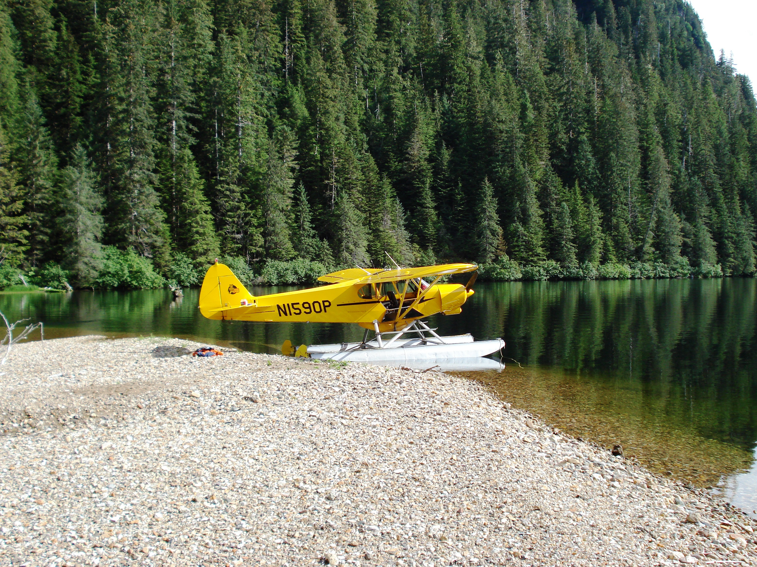 This super cub at Eliza Lake allows biologists to track pink escapements. (Photo courtesy of Troy Thynes)