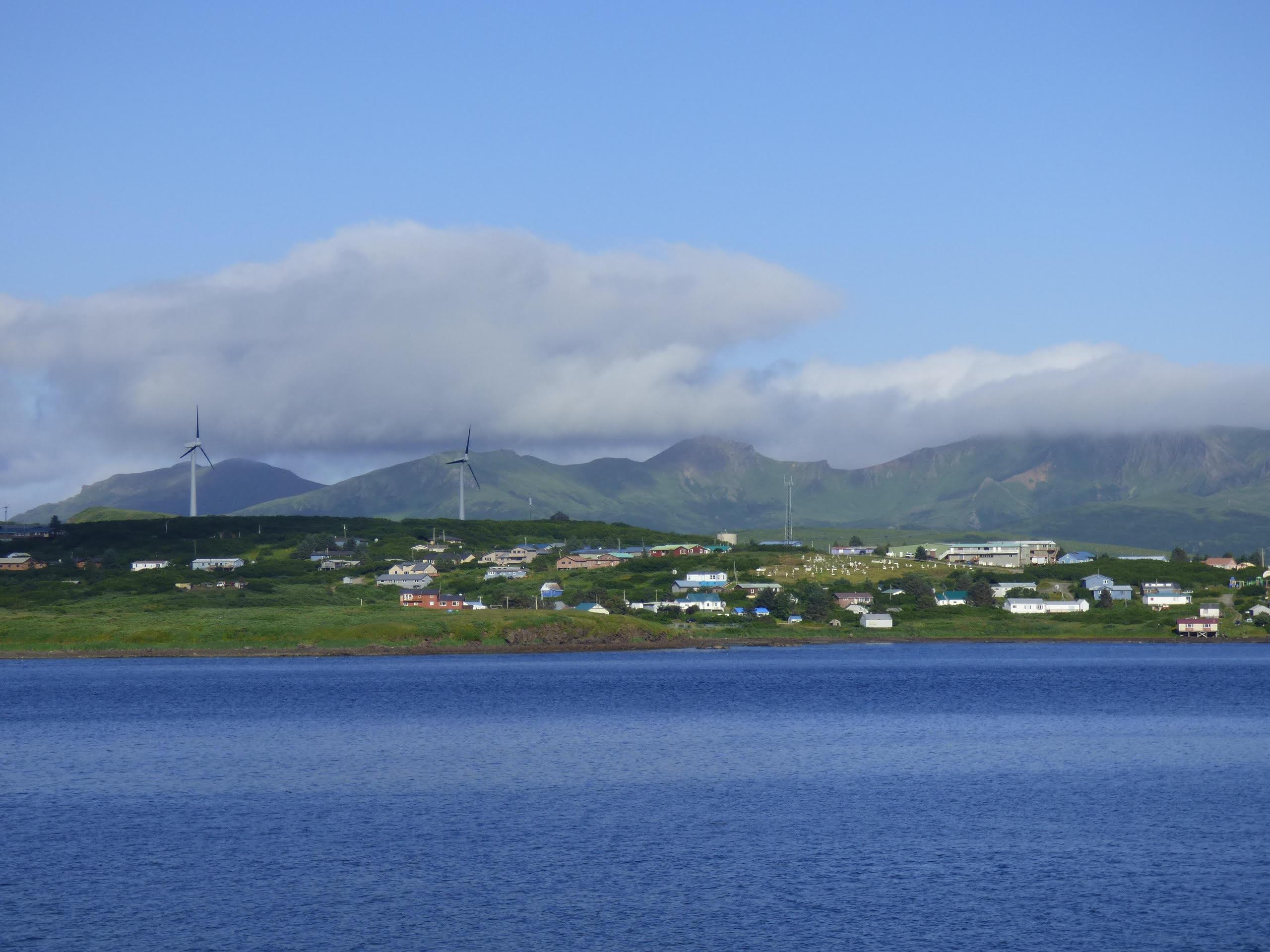Sand Point wind turbine (Photo by Zoe Sobel, Alaska's Energy Desk - Unlaska)
