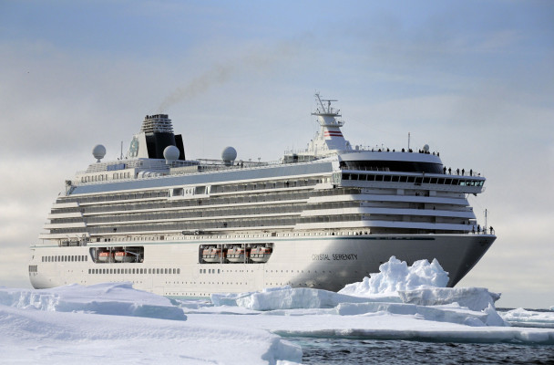 The Crystal Serenity will stopover in Nome this summer en route to the Northwest Passage. (Photo courtesy of Crystal Cruises)
