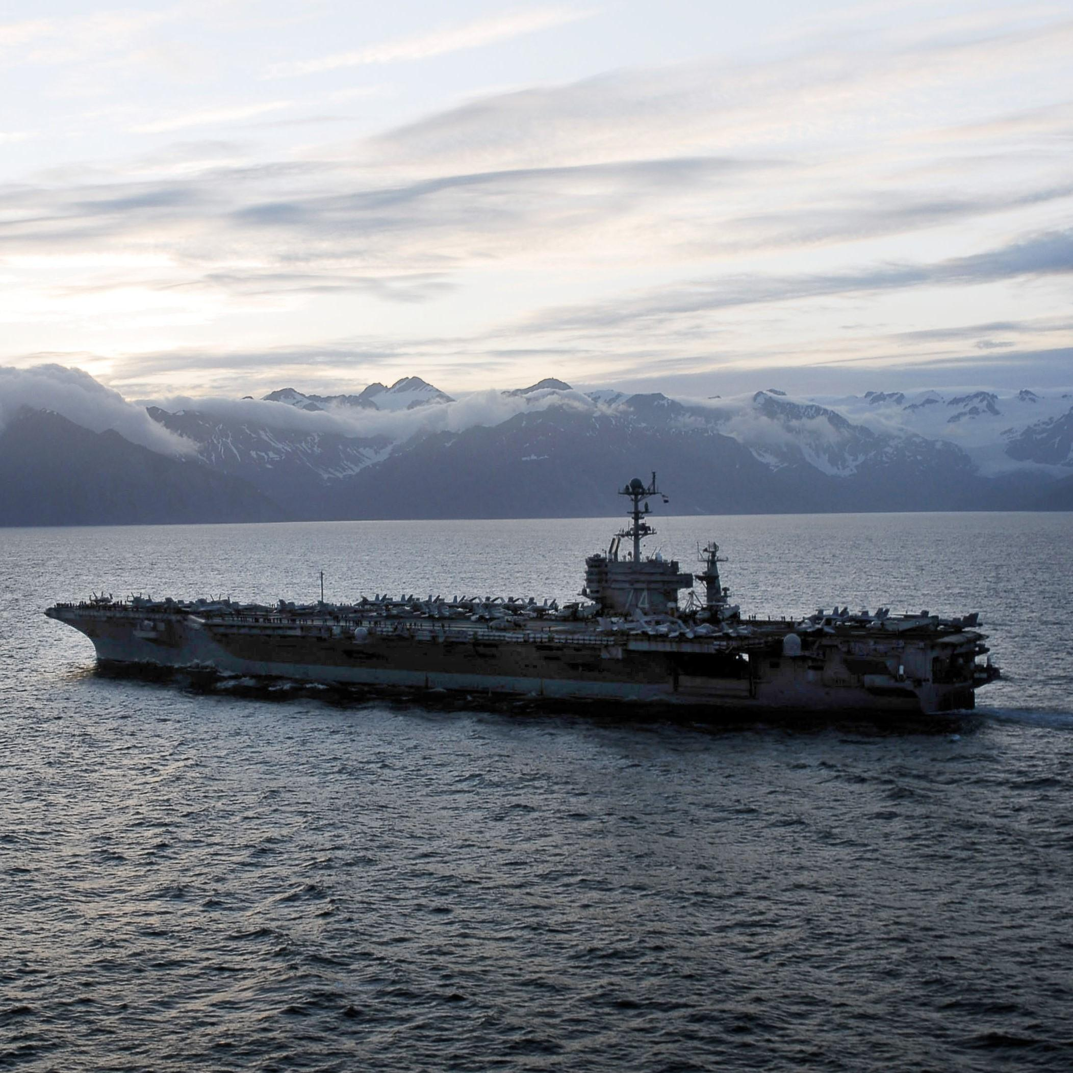 Northern Edge military training exercise in the Gulf of Alaska. (Photo courtesy of U.S. Navy)