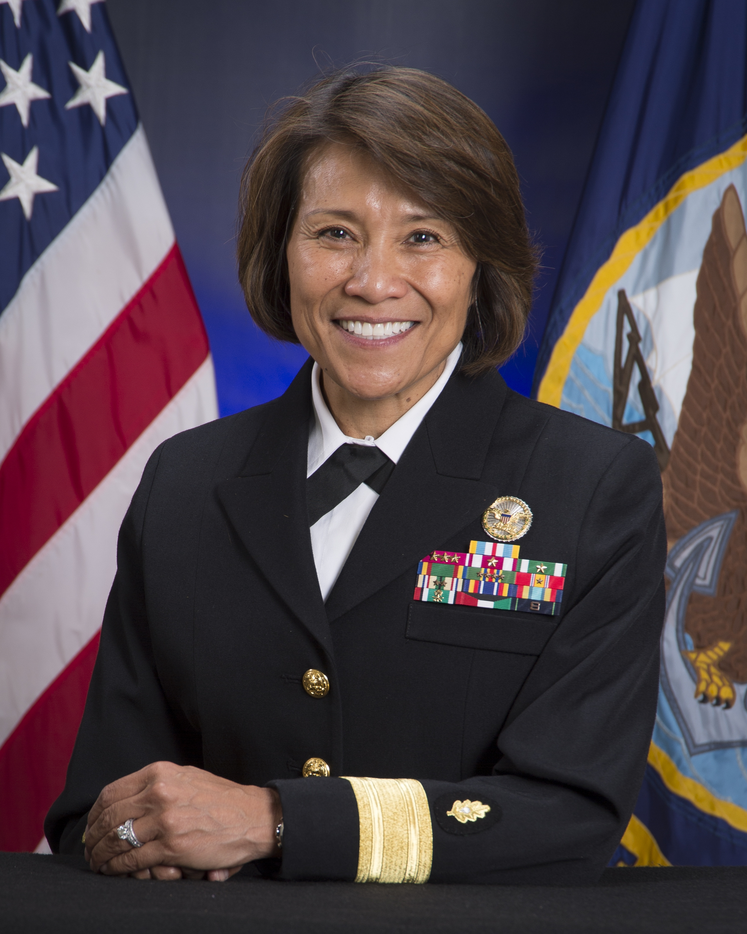 Rear Admiral Raquel Bono, Chief, Medical Corps, United States Navy (Photo courtesy of the U.S. Navy)