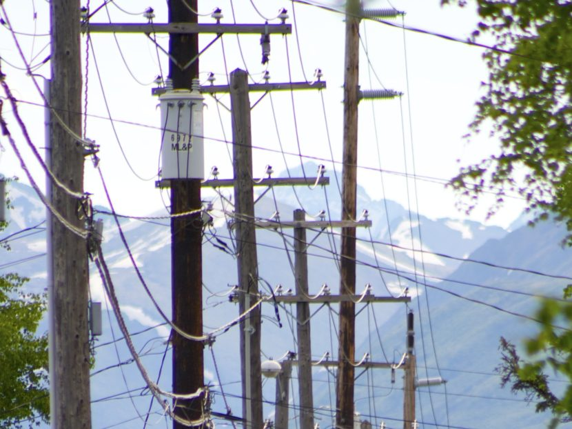 Power poles in Anchorage. (Photo by Antti T. Nissinen via Flickr)