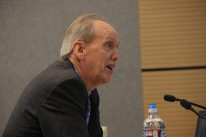 David Barrowman of consulting firm Wood Mackenzie told lawmakers that the Alaska LNG, as currently envisioned, is likely too expensive to compete with other LNG projects around the world. Photo: Rachel Waldholz, Alaska's Energy Desk