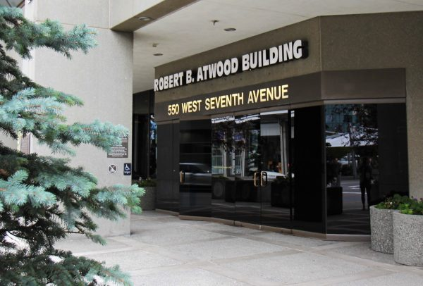 The Robert B. Atwood Building in downtown Anchorage.