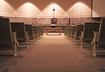 The Anchorage Assembly chambers at the Z. J. Loussac Public Library in Anchorage.