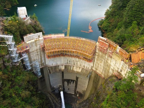 Sitka's Electric Department is in crisis. There isn't enough money to both keep up with bond payments on the Blue Lake Dam and address needed infrastructure repairs. To fix this, the Assembly plans to increase rates by another 5% rate increase this year and draw money from other funds. (Blue Lake Expansion photo by Desiree Brandis)