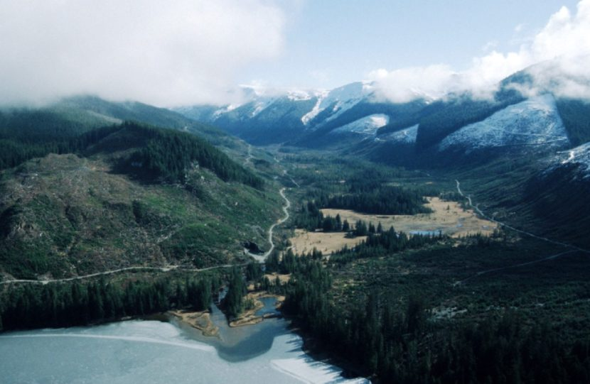 Logged lands at the head of Lake Kathleen, on Admiralty Island, are among those Shee Atiká has sold to the Forest Service to add to its Kootznoowoo Wilderness Area. (Photo courtesy U.S. Forest Service.)