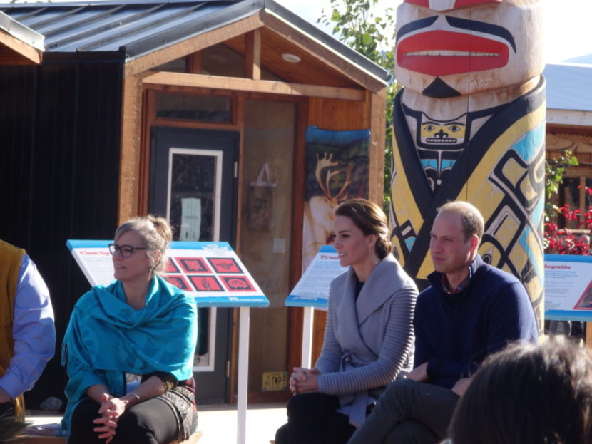 Prince William and Kate Middleton visited Carcross after a trip to Whitehorse. (Photo by Abbey Collins, KHNS - Haines)