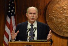 Gov. Bill Walker at a press conference Feb. 19, 2015. (Photo by Skip Gray/360 North)