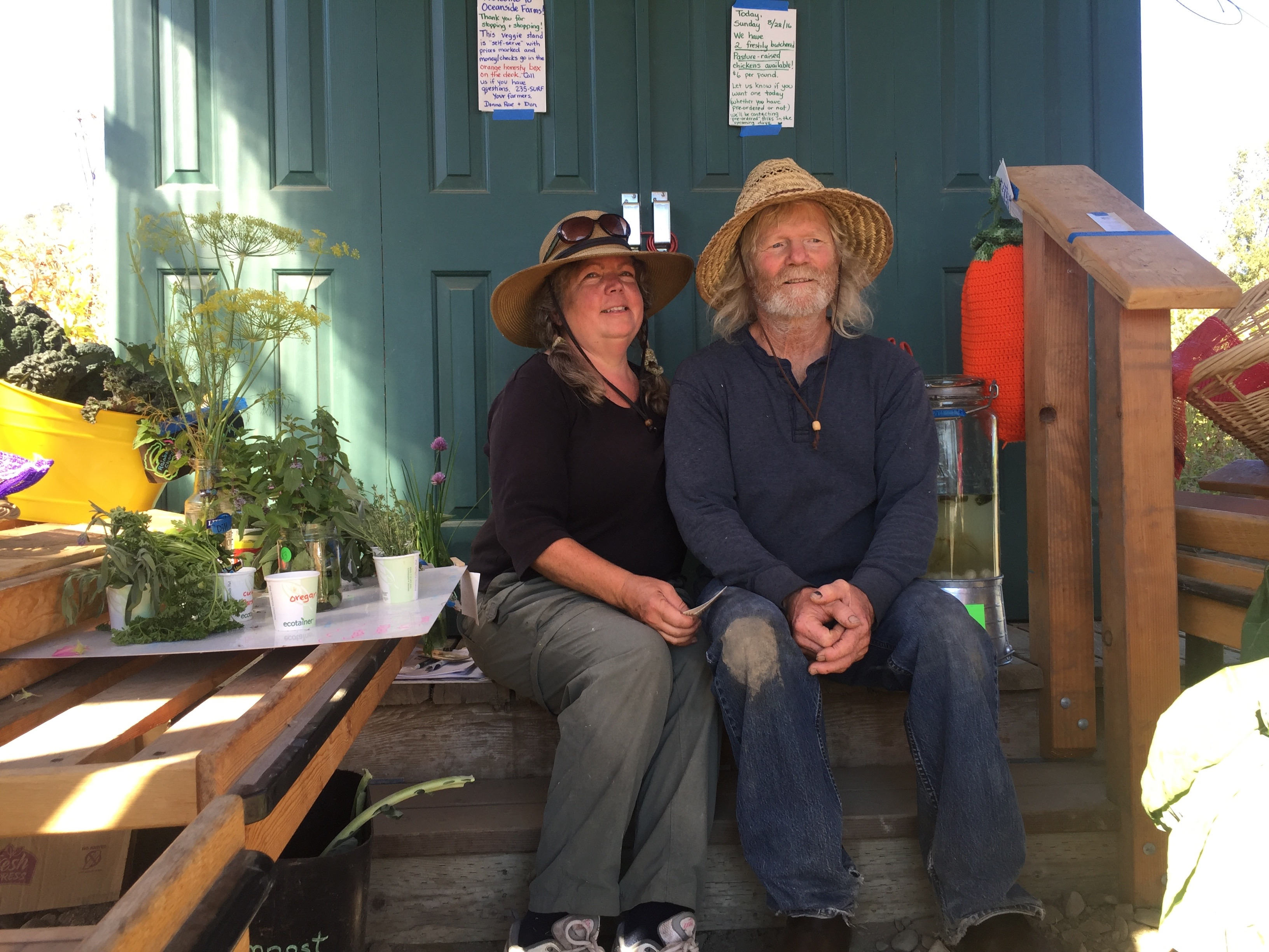 Over the last three years, Donna Rae Faulkner and Don McNamara have been building a farm with help from a cost share program through the USDA's Natural Resource Conservation Service. (Photo by Emily Schwing, Northwest News Network)