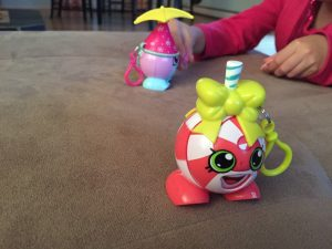 Rusty plays with her Shopkins toys. (Hillman/KSKA)