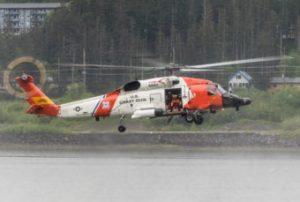 U.S. Coast Guard search & rescue demo at the 2016 Juneau Maritime Festival (Photo by David Purdy, KTOO - Juneau)