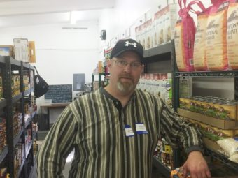 Darren Adams is the food bank manager. (Photo by Quinton Chandler, KTOO - Juneau)